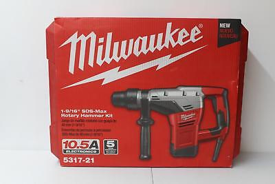 "Milwaukee (5317-21) Corded, Power Tool, 1 9/16"" SDS Max, Rotary Hammer Kit NEW"