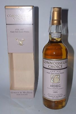WHISKY ARDBEG 1991 CONNOISSEURS CHOICE 12 YEARS OLD BOTTLE IN 2003 IN BOX 70cl.