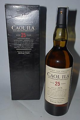 CAOL ILA  25 YEARS OLD DISTILLED 1979 NATURAL CASK STRENGTH  2005 WHISKY 70cl.