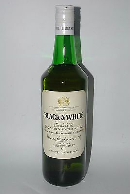 WHISKY BLACK & WHITE BUCHANAN´S BLENDED OLD SCOTCH WHISKY  AÑOS 70 75cl.