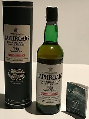 WHISKY LAPHROAIG ORIGINAL CASK STRENGTH 10 YEARS OLD 70cl. IN BOX FIRST EDITION