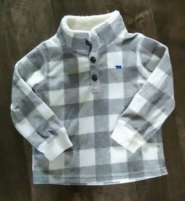 Carter's Size 3 Toddler Pull Over Sweater Boys Gray White Long Sleeves