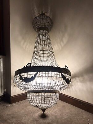 HUGE, Antique, French Style Chandelier, Vintage, Industrial, 190cm Tall