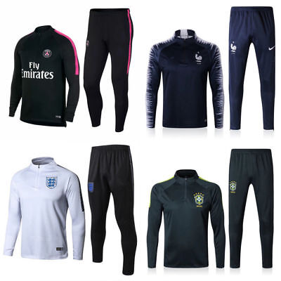 New Kids Boys Soccer Tracksuit Football Sportswear Tops Bottoms Training Suit
