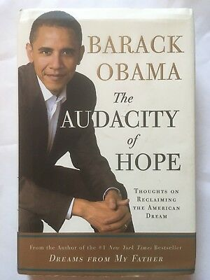 Barack Obama HAND SIGNED 'The Audacity of Hope' 1st Edition! HC Book - BEAUTIFUL