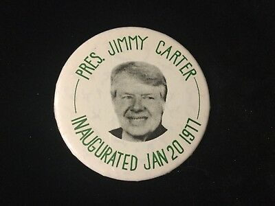 President Jimmy Carter Inaugurated 1977 2 1/4 Inch Mirror. Bag 12