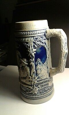 Vintage Cobalt Blue Gerz West Germany Beer Stein.