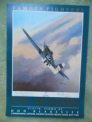 Mark Postlethwaite FAMOUS FIGHTERS P-51D Don Blakeslee Aviation Art