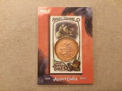 2018 Topps Allen & Ginter Relic (East India Company coin 1808) (Sunken Treasure