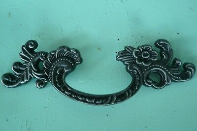 90/'s Vintage Gothic Black /& Silver French Provincial Drawer Knob Original Patina
