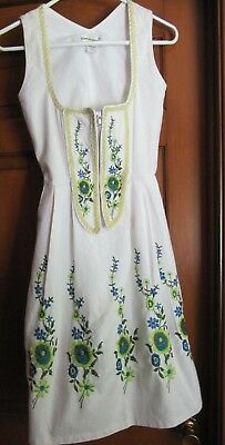 Authentic Munich Bavaria Women's Almenrausch Dirndl Oktoberfest Dress EU Size 34