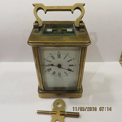 Antique Solid Brass Carriage Clock
