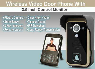 Wireless Video Door Bell with One 3.5 inch Control Monitor_Night Vision