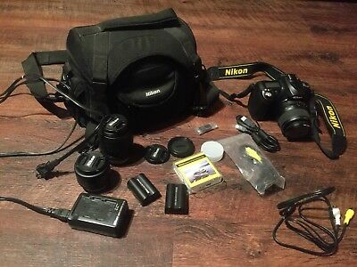 Nikon D50 6.1 MP DSLR Digital Camera with 18-55 mm and 50 mm Lenses Accessories