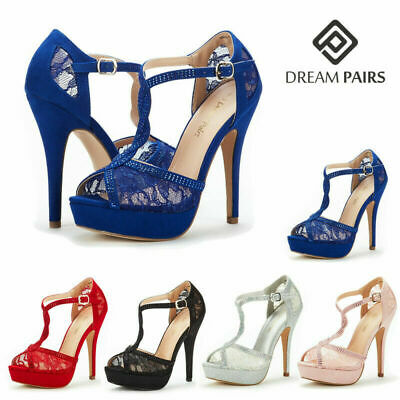 0a30f585fc0 DREAM PAIRS Womens Swan-16 Platform Stilettos Peep Toe Pump High Heeled  Sandals
