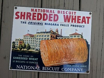 National Biscuit Shredded Wheat Advertising Metal Sign