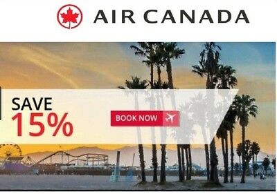 Air Canada Promotion Code (15% Discount / Voucher / Rebate)