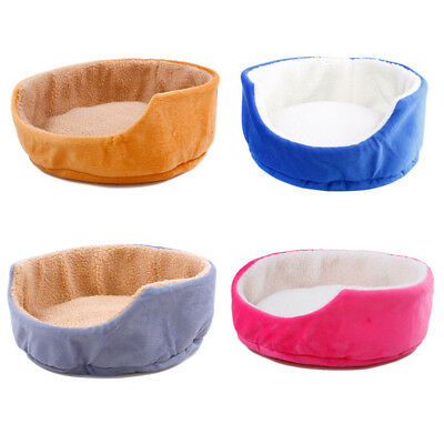 Pet Dog Puppy Cat Kitten Warm Bed Home House Cozy Nest Rounded Mat Pad Basket wk