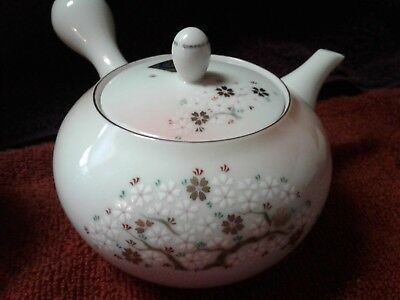 vintage japanese arita cherry blossom tea set