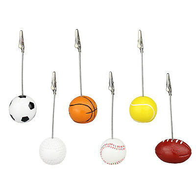 Lot 10pcs Sport Ball Base Alligator Wire Photo Clip,table place memo card holder