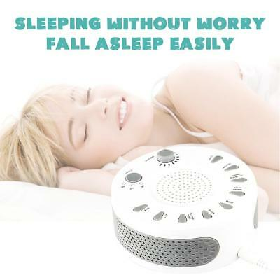 White Noise Therapy Sound Sleep Soothing Relax Machine Nature Sounds Sleep Aid