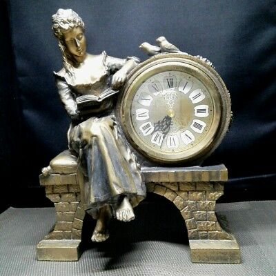 Antique CITIZEN bronze clock vintage Japan retro popular rare beautiful EMS F/S!