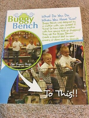 NIB Buggy Bench Shopping Cart Cover Seat in Posh Pink Great For Twins