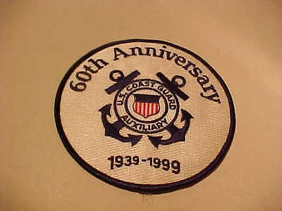U.s. Coast Guard 60Th Anniversary Patch Unused 4 1/4 X 4 1/4 Inch