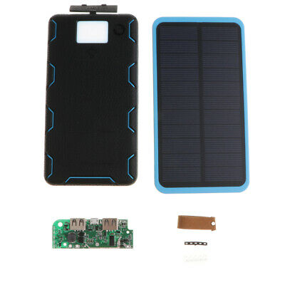 Foldable 8000mAh Solar Power Bank With USB Charger Waterproof for Cell Phone