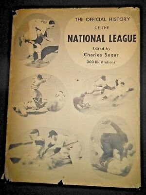 The Official History of the National League by Charles Segar Hardcover Baseball