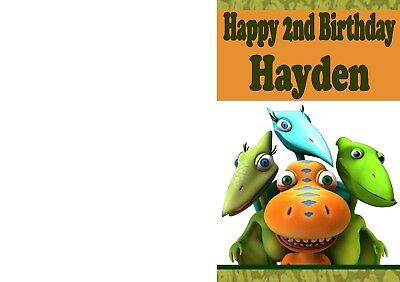 photograph relating to Dinosaur Birthday Card Printable named Personalized BIRTHDAY CARD with Dinosaur Print - Any standing