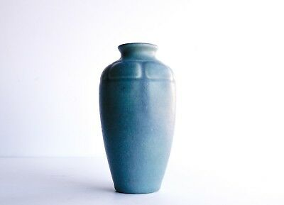 Antique Pottery Rookwood Blue 1821 Vase 1914