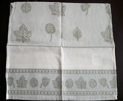 Kitchen tea towel 42 x 70cm with evenweave insert for cross stitch - Green