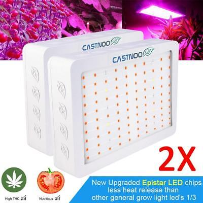 2X 500W LED Grow Light Hydro Full Spectrum Veg Flower Indoor Plant Lamp PanelUP