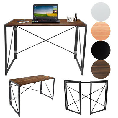 Folding Foldable Computer Desk Table Home Office Study Laptop PC Workstation
