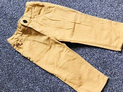 FCUK French Connection Baby Boys 6-12 Months Yellow Jeans