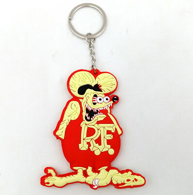 Rat Fink Key Chain New Soft Rubber Gift Double Sided Custom Action Figure