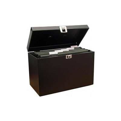 Cathedral Secure Steel Home File Black Key Lockable with 2 Keys