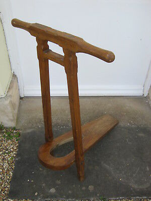 Early 20th Century Arts and Crafts Oak Metamorphic Folding Riding Boot Jack
