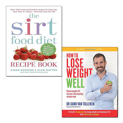 Sirtfood Diet Recipe How to Lose Weight Well Collection 2 Books Set Brand NEW