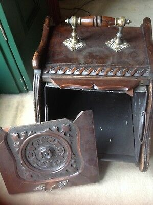 Arts and craft coal scuttle