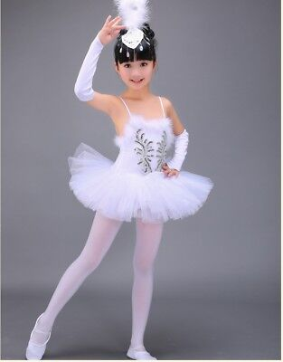 Professional White Swan Lake Ballet Tutu Costume Girls Children Ballerina Dress