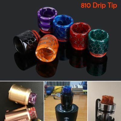 Wide Bore Epoxy Resin 810 Drip Tip Snake Skin for TFV12 Prince Big Baby Battle