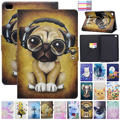 For iPad 9.7 2018 / Mini / Air Smart Leather Card Slots Magnetic Flip Case Cover