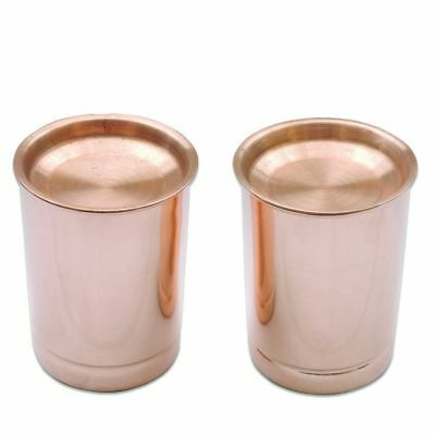 Hammered Copper Drinking Water Glass Cup Traveler's Tumbler Mug 200 ml