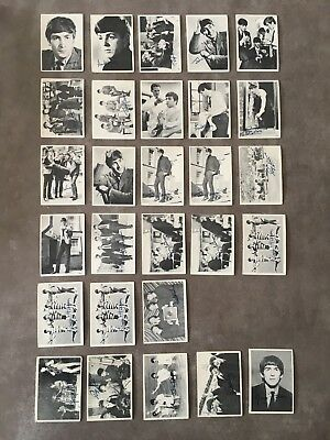 28 x 1960'S BEATLES CANADA TOPPS TRADING CARD SERIES 1 2 3
