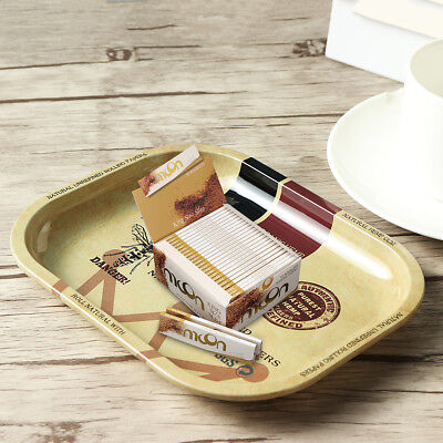 18 x 14CM Metal Plate Tray Small Size For Cigarette Tobacco Raw Rolling Papers