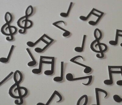 MUSIC MUSICAL NOTES Edible Stand Up Wafer Cupcake Toppers 3 Sizes Available