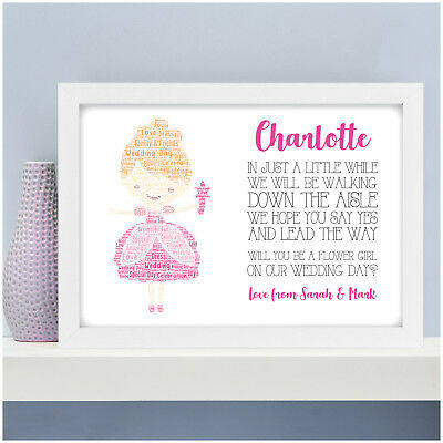 Personalised Flower Girl Poem Gifts Will You Be Our Flower Girl Print Gifts