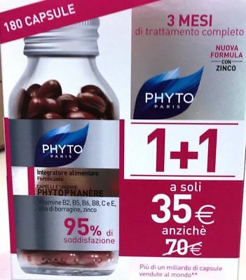 PHYTO PHYTOPHANERE BIPACK 90+90 - Integratore Capelli e Unghie - 180 CAPSULE
